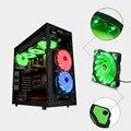 5 Stype 15-LED 12 V Luz de Neón Transparente 120mm PC Computer Ventilador de Refrigeración caja de Mod 3 y conector de $ number pines para DIY L3FE