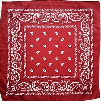 1PC Band Unisex Hip Hop Red Bandana Headwear Hair High Quality Neck Scarf Bandana Men Square Scarves Print Handkerchie