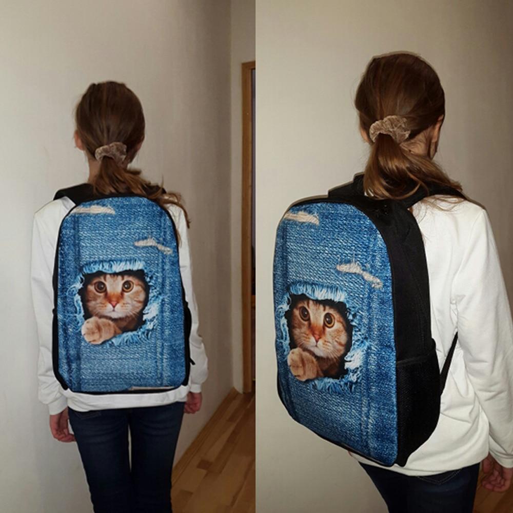 FORUDESIGNS Schoolbag Backpack Luminous Cartoon Printed Fashion School Bag for Teenage Girls School Bag Kawaii Kids Book Bags in School Bags from Luggage Bags