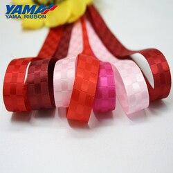 YAMA Dobby-ruban en Satin de 9mm 16mm 25mm 38mm, 100Yards/rouleau, rubans fantaisie pour décoration, cadeaux, artisanat, bricolage