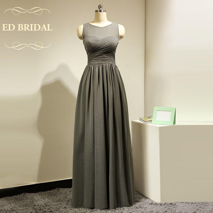 Custom made dark grey long bridesmaid dresses with keyhole for Dark grey wedding dresses