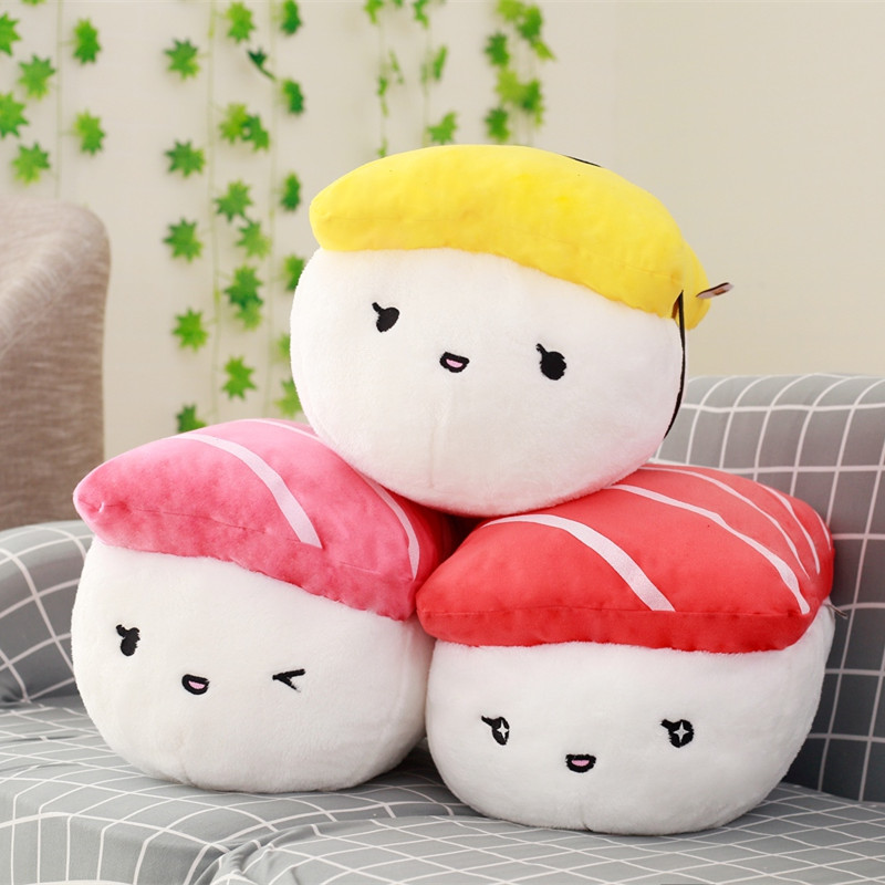 1pc 40cm Creative Japan Sushi Shape Plush Toys Stuffed Soft Sofa Pillow Kawaii Cushion Simulation Food Doll Gift for Girls Kids simulation creative plush pillow staffed funny eye owl plush toy kids baby doll cute soft sofa cushion interesting birthday gift