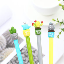 1 PCs Korea Stationery Creative Cactus Potted Gel Pen Students with Full Needle Gel Pen Cute Stationary Wholesale Kawaii School(China)
