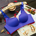 8 Colors Women Fashion Candy Color Wire Free Push Up Seamless Adjustable Back Cross Underwear Bra Intimates Lingerie 3004-1