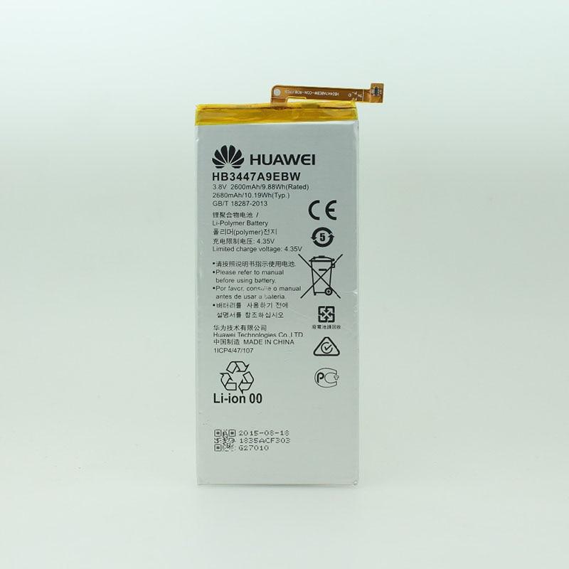 Original High quality 2680mAh HB3447A9EBW 3.8V Li-ion mobile phone battery For Ascend P8 Batterie Bateria + Free tools