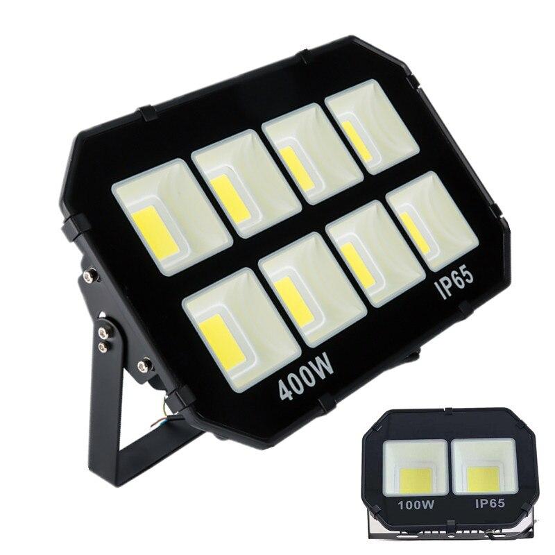 Nouvelle Arrivée 50 w A MENÉ La Lumière D'inondation 100 w IP65 110 v 220 v 200 w LED Spotlight Refletor En Plein Air éclairage 300 w Mur Lampe Projecteur