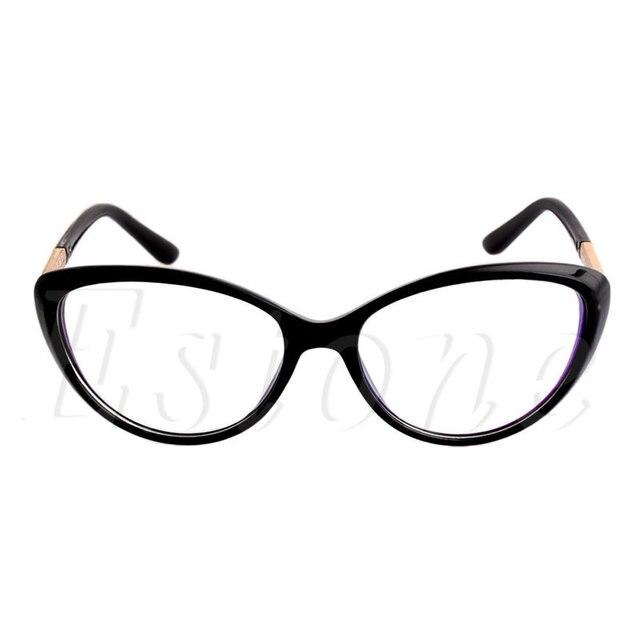 a2b1c81b70 Women Frame Fashion Cat Eye Eyeglasses Clear Lens Ladies Eye Glasses  Spectacles Christmas Gifts for Girls