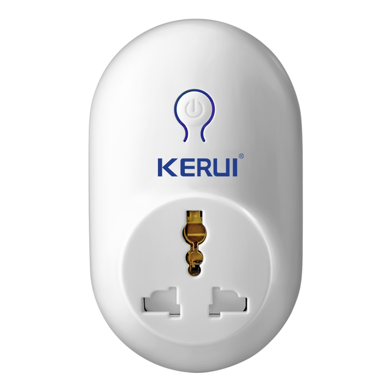 KERUI Alarm Accessories Wireless Remote Switch Smart Power Socket Plug 433MHz  Home Automation for iPhone Android Phones Hot New kerui wireless remote switch smart socket power eu us uk au plug standard for home security alarm system g19 g18 8218g 433mhz