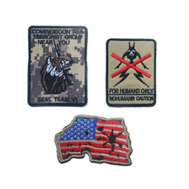 10pcslot 3D embroidery armband Seal team patch US flag map patch