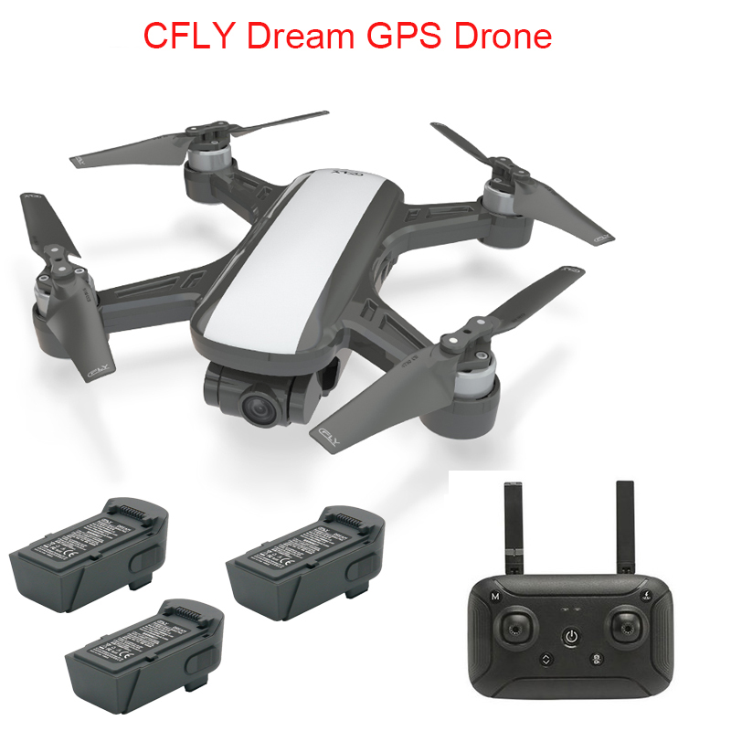 CFLY Dream GPS Drone RC Quacopter 1080P HD Camera 5G Wifi FPV Long Distance Transmission Follow Me Mode Circle Flying