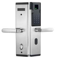 2018Biometric Electronic Smart Door Lock Fingerprint+4 Cards+2 Mechanical Keys Keyless Code Lock Smart Entry Office Home L18018F