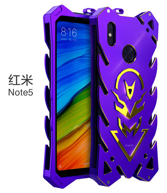 best service 2b812 0a85e US $25.0 |Zimon for xiaomi redmi note 5 case Original Design Armor Heavy  Dust CNC Metal Aluminum THOR IRONMAN phone shell cover-in Half-wrapped Case  ...
