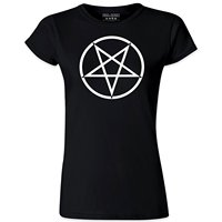 Women S Gothic Clothing Black Metal Horror Pentagram Black T Shirt 2018 Summer Fashion T Shirt
