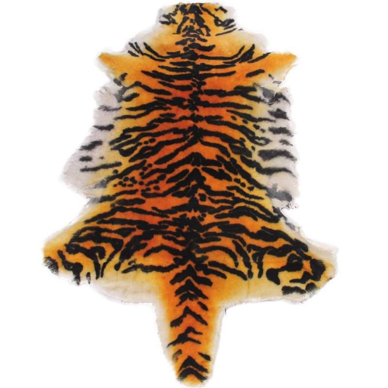Haute qualité tapis australie pure laine cuir imitation peau de tigre tapis salon tapis chaise coussin siège animal couverture - 3