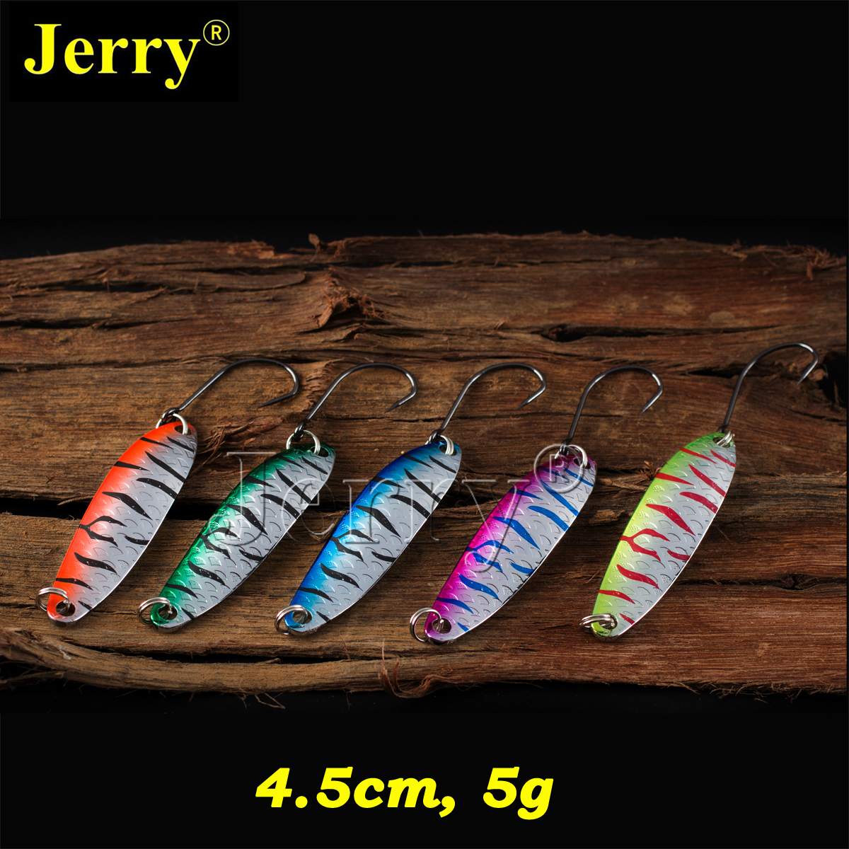 Jerry 5pcs 5g willow long casting spoons fishing lures trout spoons free tackle box spinner bait mikado willow 2 5 г медь