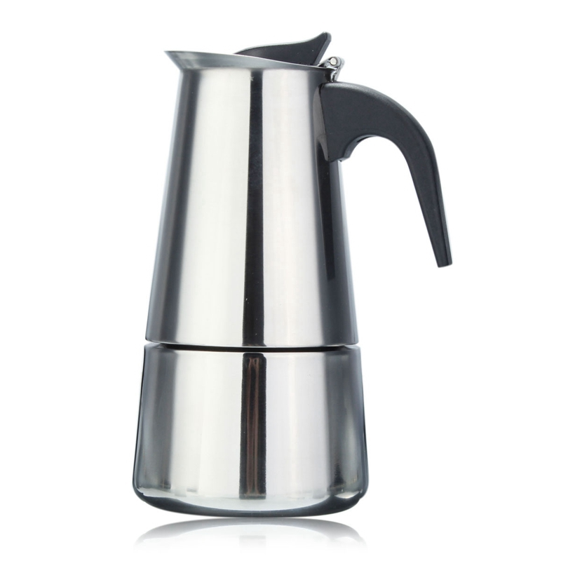 Italian Coffee Maker Stainless Steel : Italian Stainless Steel Espresso Maker Kitchen Drip Kettle Tea Pot Moka Coffe Pot Coffee ...