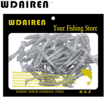 WDAIREN 50pcs/lot Soft Fishing Lures 5cm/0.7g Worm Swimbaits Silicone Bait isca Artificial Para Pesca leurre peche NE-001