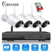 WOASER 1080P Plug & Play Wireless NVR Surveillance Kit P2P 2.0MP HD Outdoor IR Night Vision Security IP Camera WIFI CCTV System