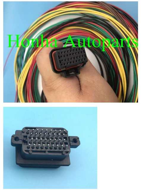 1 set free shipping wire harness Motec/Haltech ECU 34 PIN Connector Haltech Wiring Harness on