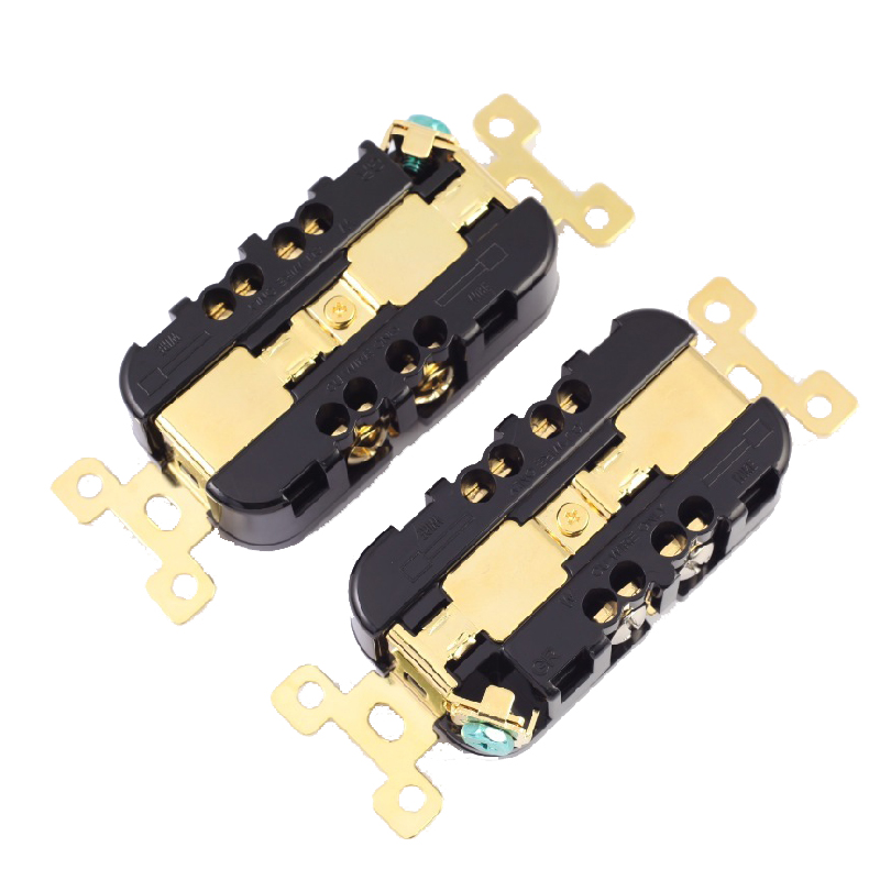 HiFi MPS BX-2 HiFi AC power Power Strip AC Power  Adapter Plug  Audio Connector 24K gold Plated 1PCS dc power socket gold plated 3 5 1 3mm vertical strip power plug high quality