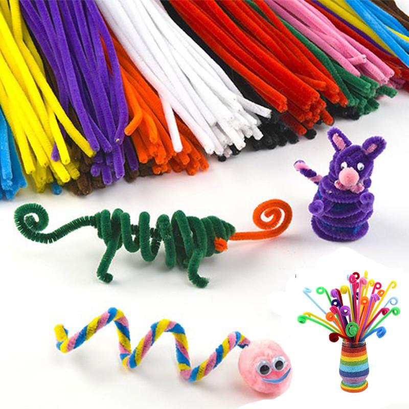 unids chenille materiales montessori de juguetes educativos para nios para nios colorido tubo limpiador