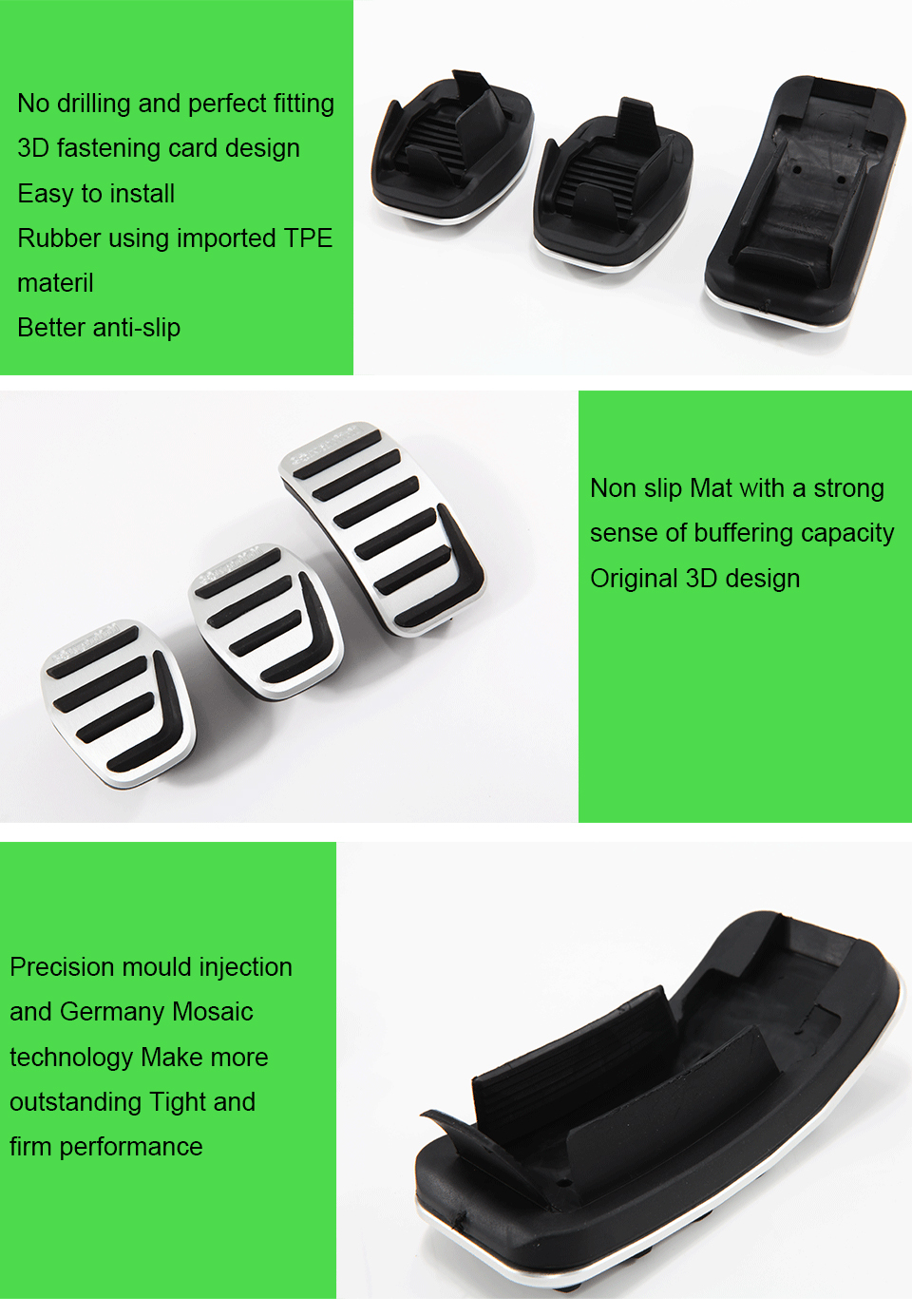 Savanini подножка сцепления тормоза газа акселератора автомобиля педали для VOLVO S40 V40 C30 MT Алюминиевый сплав! Нет необходимости в сверлении