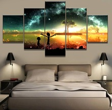 Frame 5 Piece Canvas Art HD Print Rick And Morty Cuadros Landscape Wall Home Decor For Living Room Painting