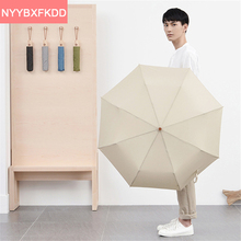 Японский высококачественный сплошной цвет полностью автоматическая складной зонтик для мужчин Взрослых зонтик paraguas зонтик женщин бесплатная доставка
