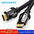 Vention Кабель HDMI к HDMI кабель 4 K HDMI 2,0 3D 60FPS кабель для сплиттера ТВ ЖК-дисплея ноутбука PS3 проектор компьютерный кабель