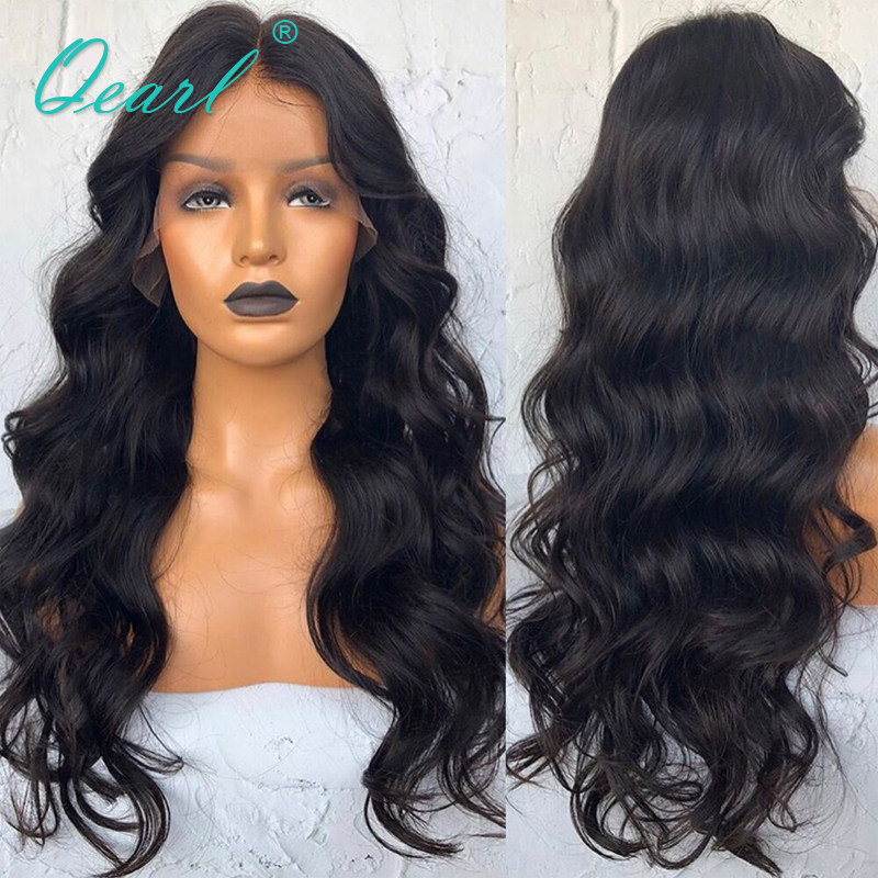 Indian Remy Hair 13x6 Body Wave Lace Front Wig Extra Long Deep Middle Parting for Women