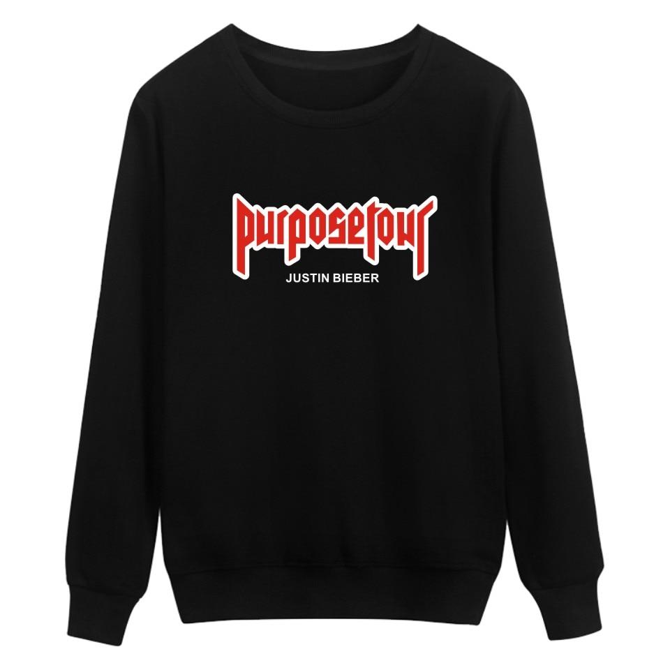 Print Hoodies Justin Bieber Purpose Tour Black Men Fashion And Hip Hop Style Cotton Sweatshirts Funny Luxury In Plus Size 4XL