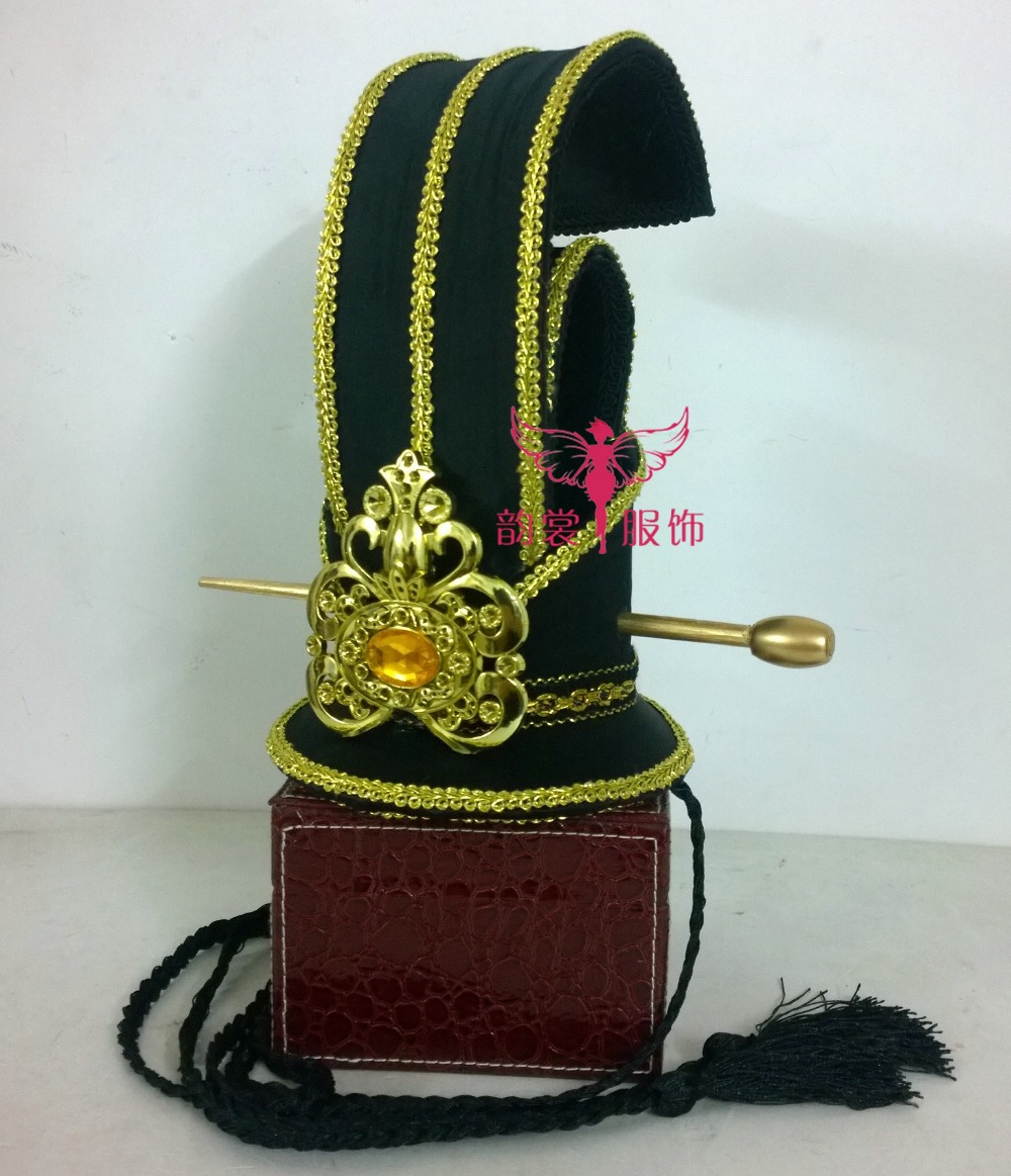 Black Male Hair Tiaras for Ancient Chinese Emperor or Prince Traditional Chinese Wedding Men's Tiaras Cos Props or Photography