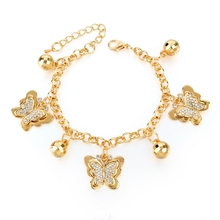 Unisex Heart Beetle Charm Bracelets Bangles with Austrian Crystals