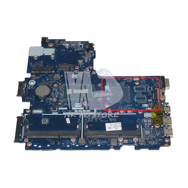 NOKOTION ZPL40 ZPL50 ZPL70 LA-B181P 799550-601 799550-501 799550-001 For HP Probook <font><b>450</b></font> G2 laptop mothebroard SR27G i3-5005U CPU image