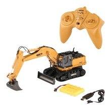 RC Escavadeira Caminhão com 680 Rotação Som Luz 1510 2.4G 1/16 11CH Engenharia Liga Veículo de Construção de Brinquedos para Crianças adulto