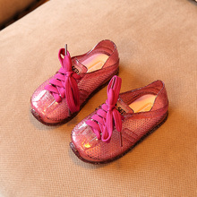 Mini Melissa Sports Tennis Shoes 2019 New Autumn Flat Slip-on Kids Sandals Sneakers Breathable Lovely Jelly