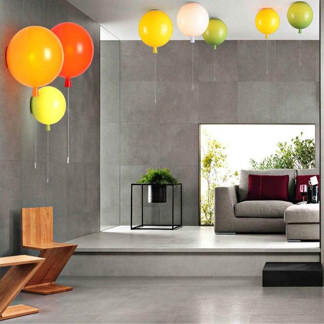 Novelty Colorful Balloon Led Wall Lamp Acrylic Wall Light Kids Room Colorful  Festival Balloon Stair Corridor