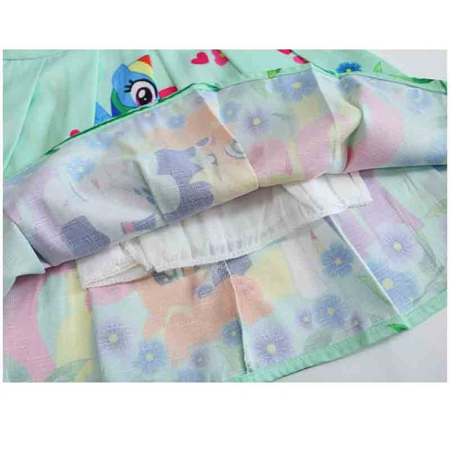 Spring and Summer My Princess Girl Print Dress Rainbow Pony  2