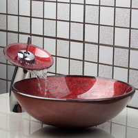 Contemporary Special Design Basin Faucet Red Sink Ceramic Deck Mounted Single Handle Hot Cold Water Excellent Sink Basin Faucet
