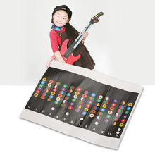 1 Sheet Colorful Guitar Stickers Practical Coded Note Scale Sticker For Trainer Learner Sticker Guitar Accessories Music Tools