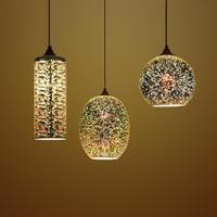 Free shipping 3D creative design stained glass chandelier Restaurant Bar Cafe Bar clothing store lights.