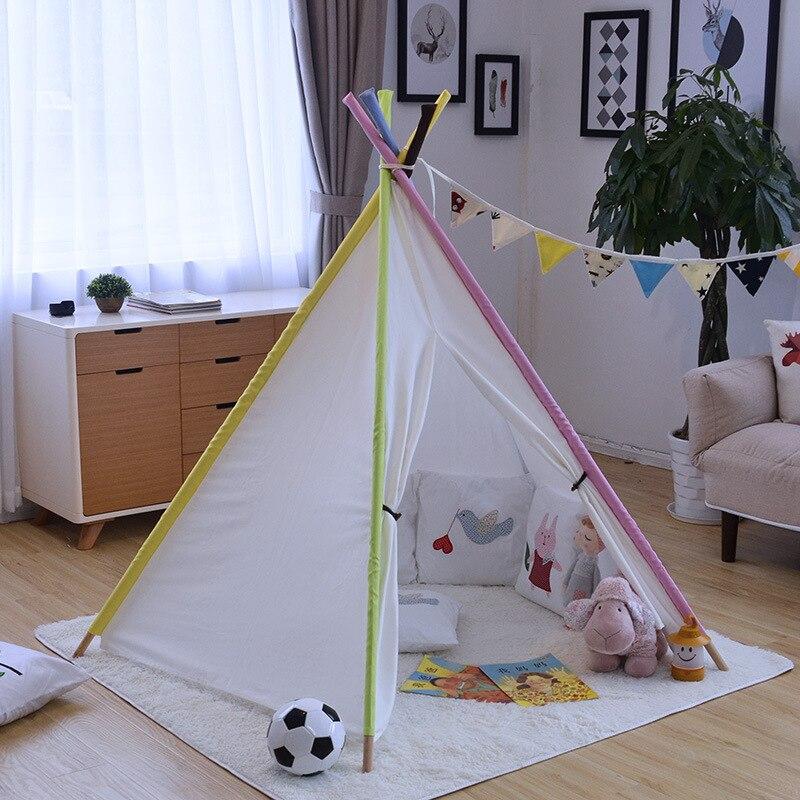 Cour bébé garçons/filles PlayHouse tentes pour enfants enfants couleur Pure tentes indiennes jouets d'intérieur jouant tente pliante pour chambre d'enfants