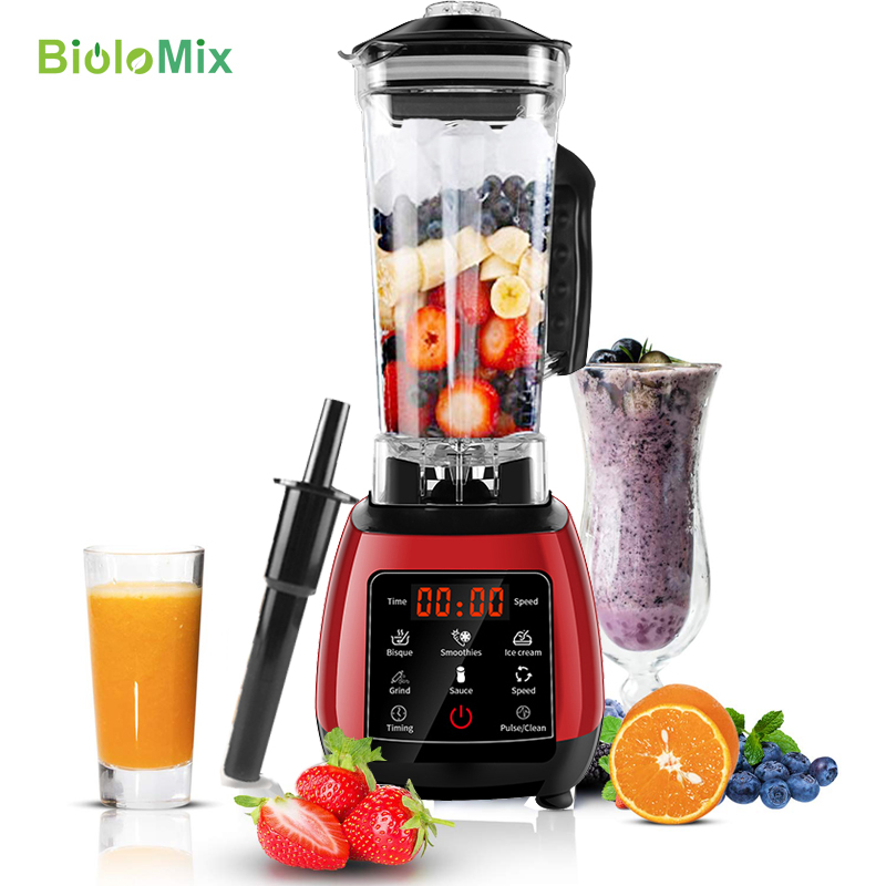 Digital Touchpad Automatically Program Professional 3HP Blender Mixer Juicer High Power Food Processor Ice Green Smoothie Soups máy xay sinh tố của đức