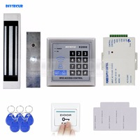 125KHz Rfid Card Reader Keypad Door Access Control Security System Kit 180Kg Electric Magnetic Lock Door
