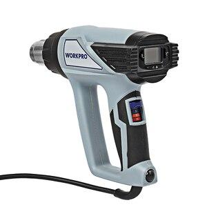 Image 2 - Workpro 220 220vヒートガン2000ワット家電ホットエアガン温度調節デジタル熱銃lcdディスプレイ