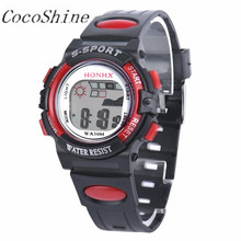 CocoShine A-777  Waterproof Children Boys Digital LED Sports Watch Kids Alarm Date Watch Gift wholesale Free shipping