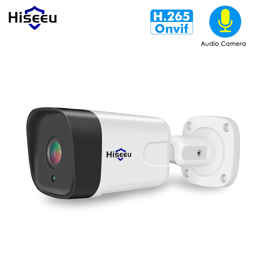 Hiseeu 1080P ONVIF Audio POE IP Camera for NVR POE System Security Outdoor Motion Detection App View