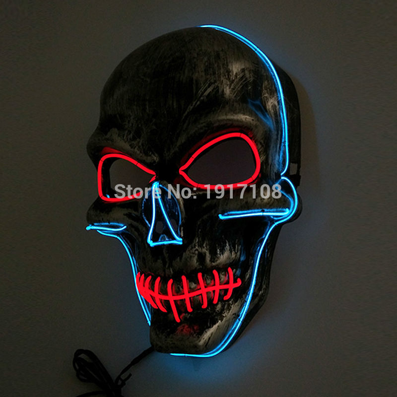 Uus Halloweeni peo maskmaskera Skull head Mask Mood LED-i vilkuv - Pühad ja peod - Foto 2