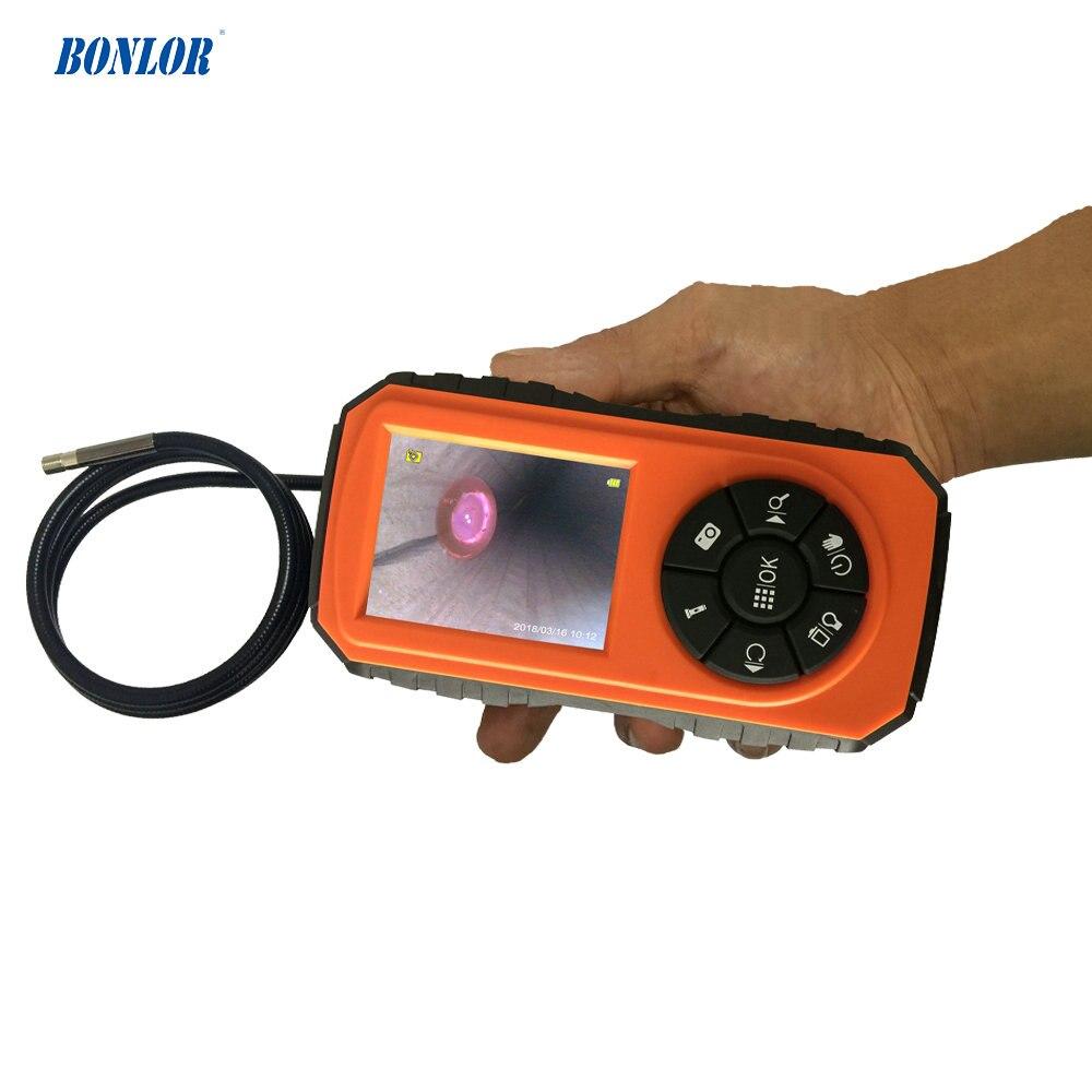 Super Mini Potente Periscopio di Ispezione Camera System con 1 M Tubo Del Serpente Night Vision & 3 inch Monitor LCD a Colori IP67 Impermeabile