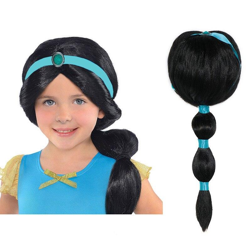Girls Princess Jasmine Cosplay Accessory Wig Rapunzel Fairy Tale